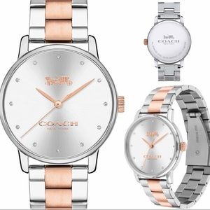 COACH GRAND TWO TONED WATCH ROSEGOLD/STAINLESS